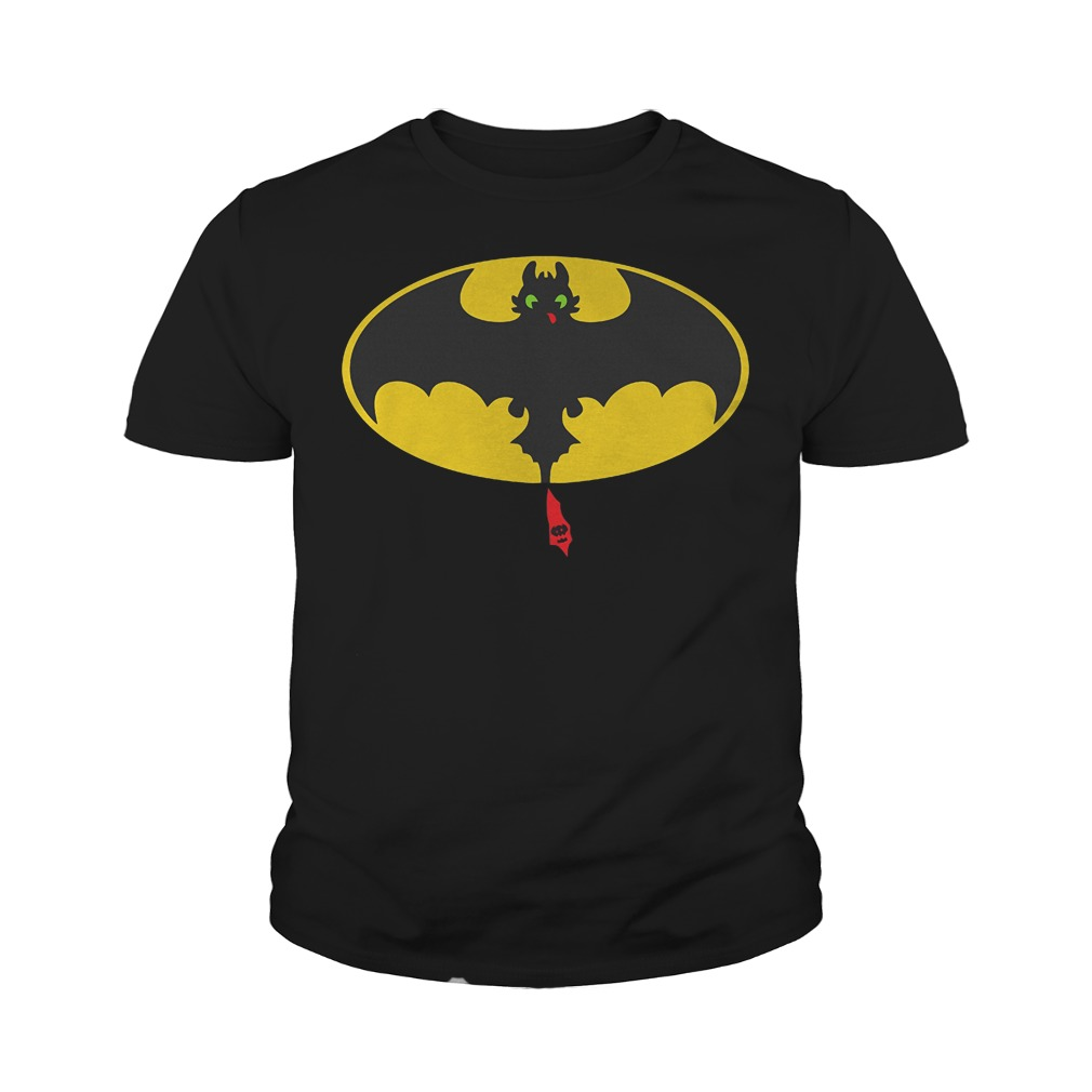 Toothless Batman How To Train Your Dragon Mashup T-Shirt Youth Tee
