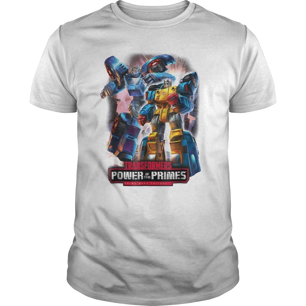 Transformers Power Prime Trilogy T-Shirt Classic Guys / Unisex Tee