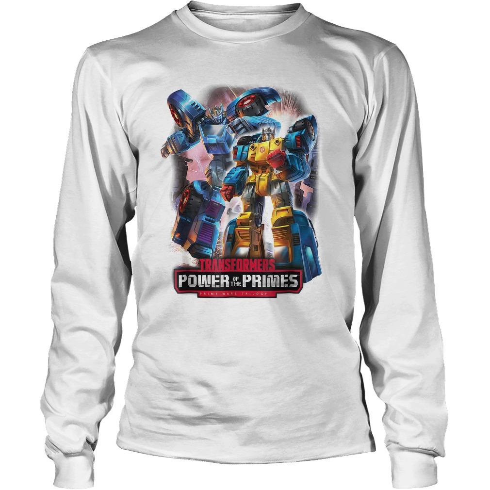 Transformers Power Prime Trilogy T-Shirt Longsleeve Tee Unisex