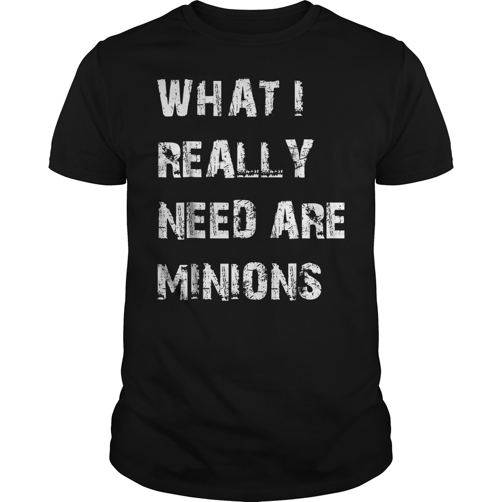 What I Need Are Minions T-Shirt Classic Guys / Unisex Tee