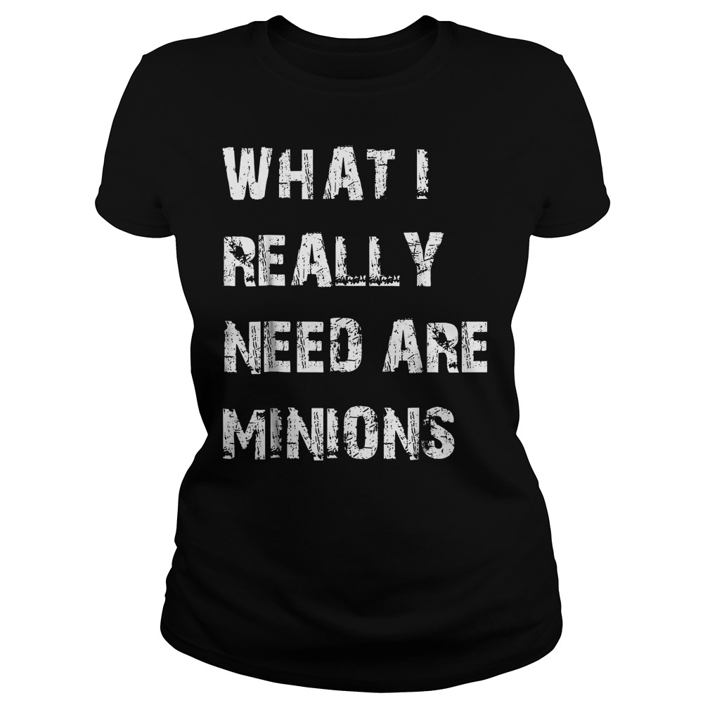 What I Need Are Minions T-Shirt Classic Ladies Tee