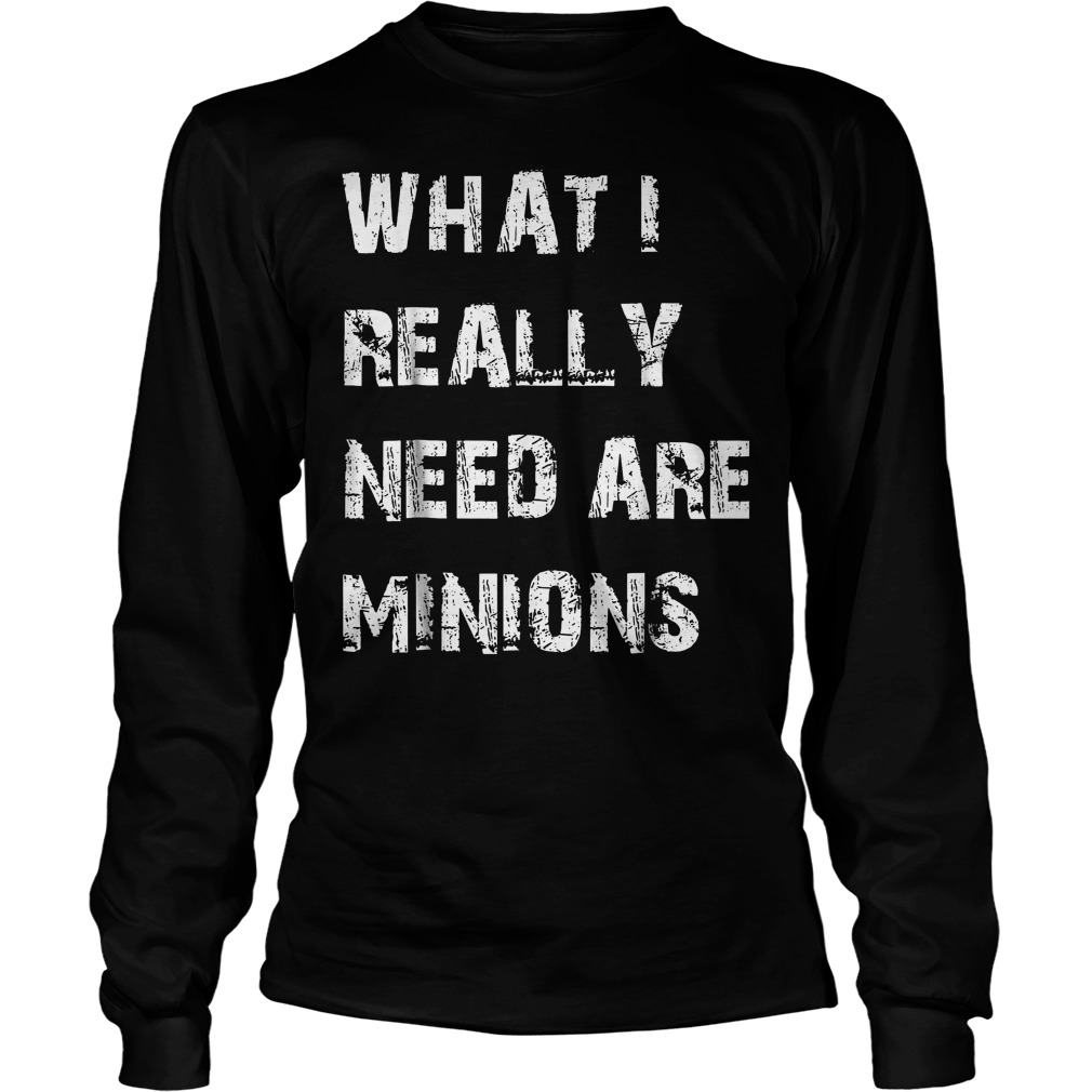 What I Need Are Minions T-Shirt Longsleeve Tee Unisex
