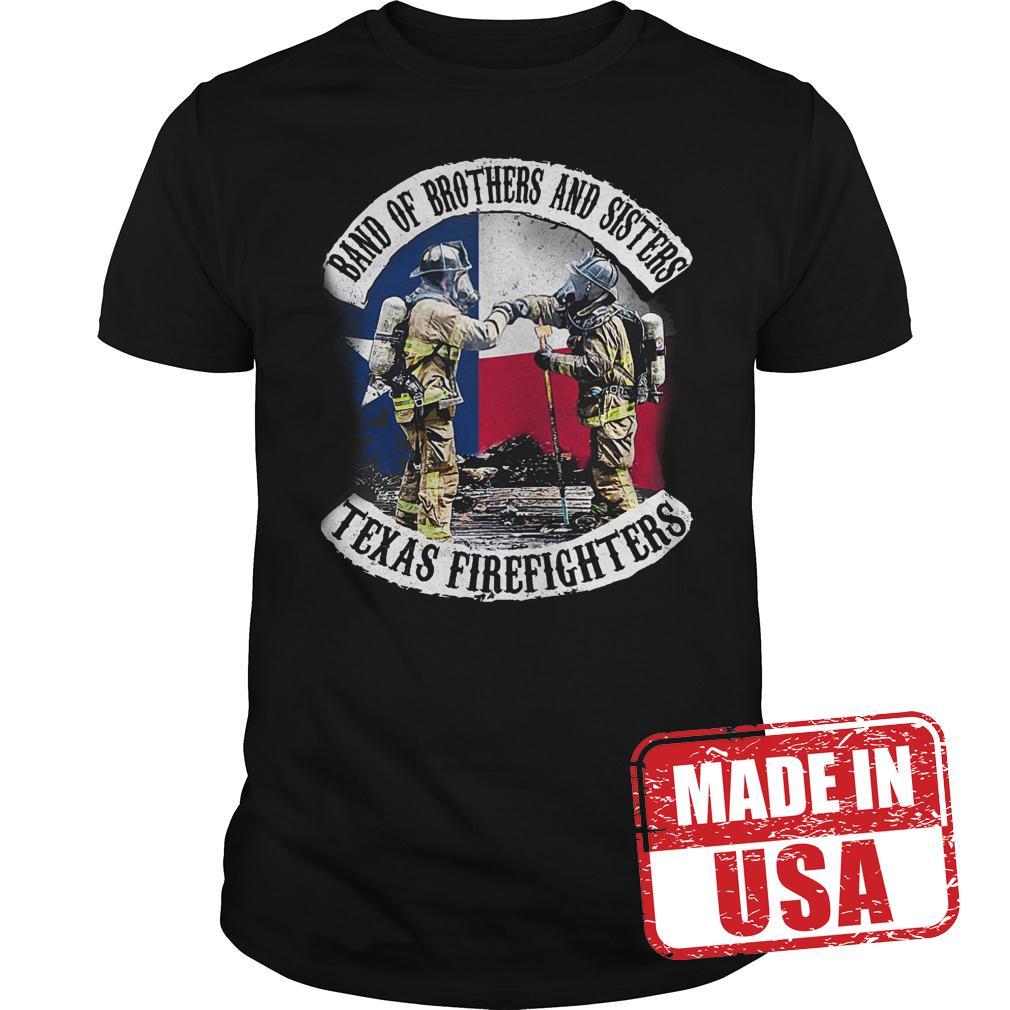 Best Price Band of brothers and sisters Texas Firefighter shirt