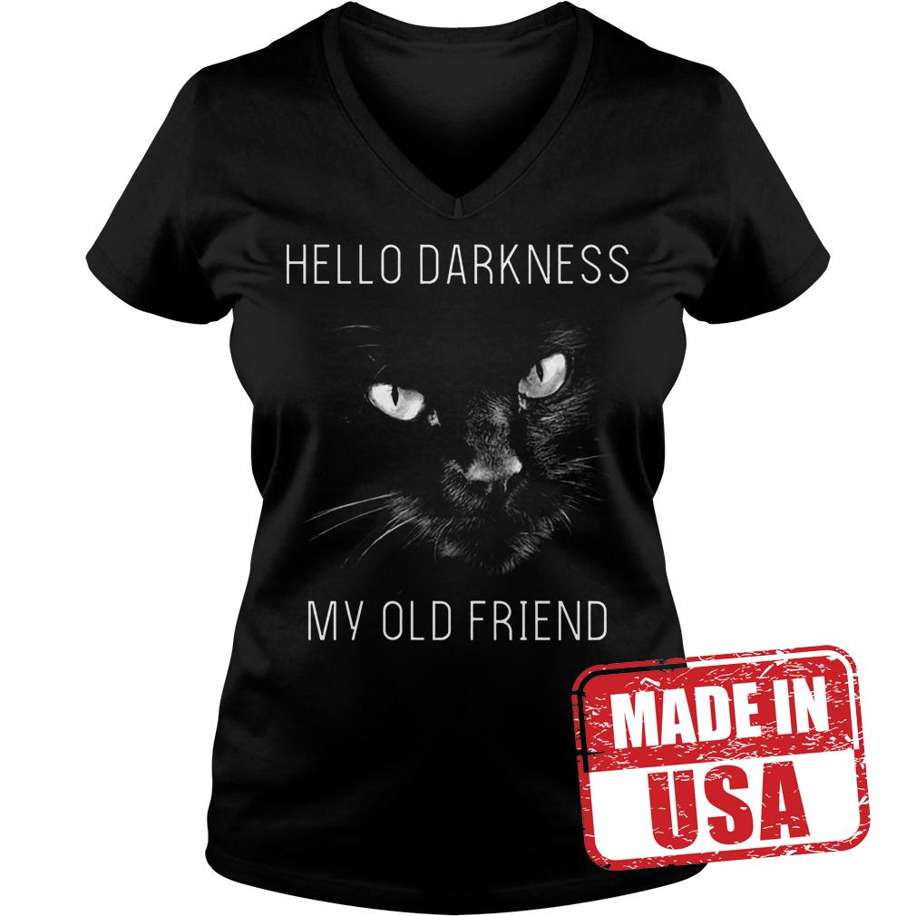 Best Price Cat Hello darkness my old friend Shirt Ladies V-Neck