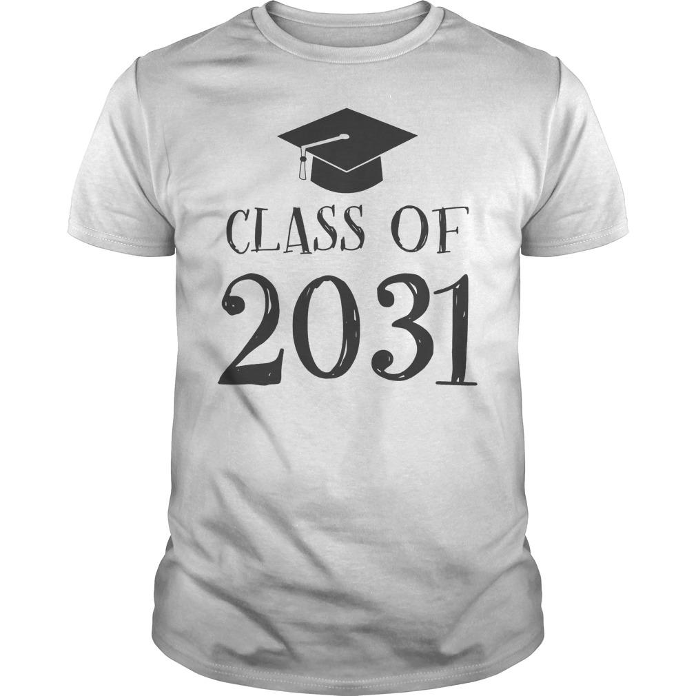 Best Price Class Of 2031 Grow With Me First Day Of School T-Shirt Classic Guys / Unisex Tee