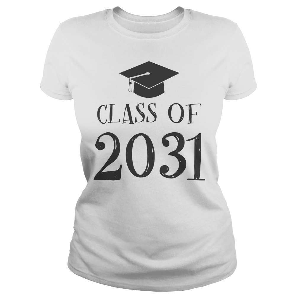 Best Price Class Of 2031 Grow With Me First Day Of School T-Shirt Classic Ladies Tee