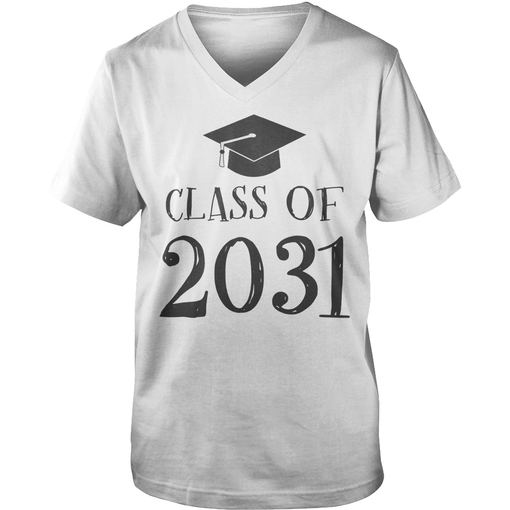 Best Price Class Of 2031 Grow With Me First Day Of School T-Shirt Guys V-Neck