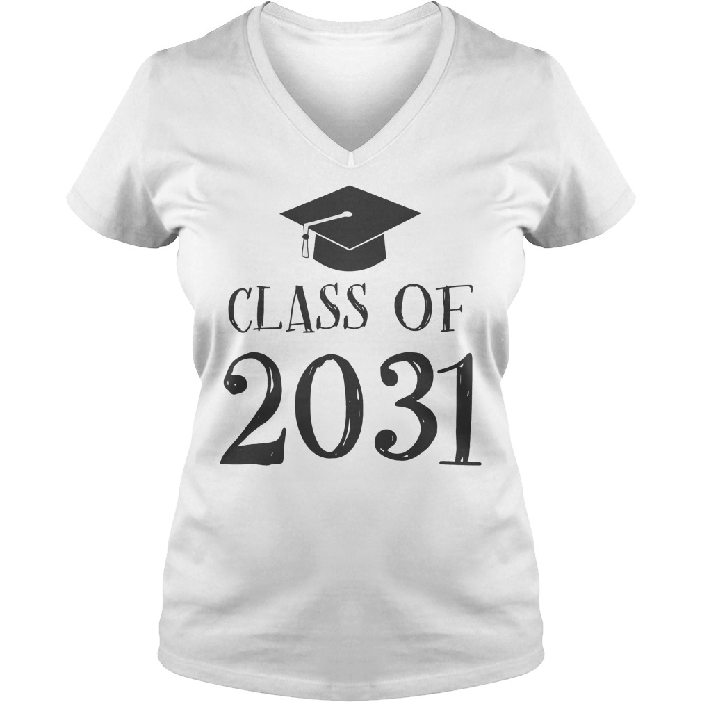 Best Price Class Of 2031 Grow With Me First Day Of School T-Shirt Ladies V-Neck