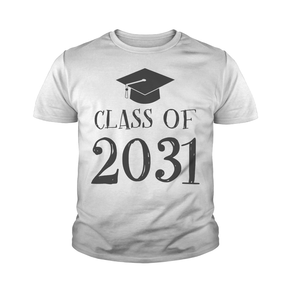 Best Price Class Of 2031 Grow With Me First Day Of School T-Shirt Youth Tee