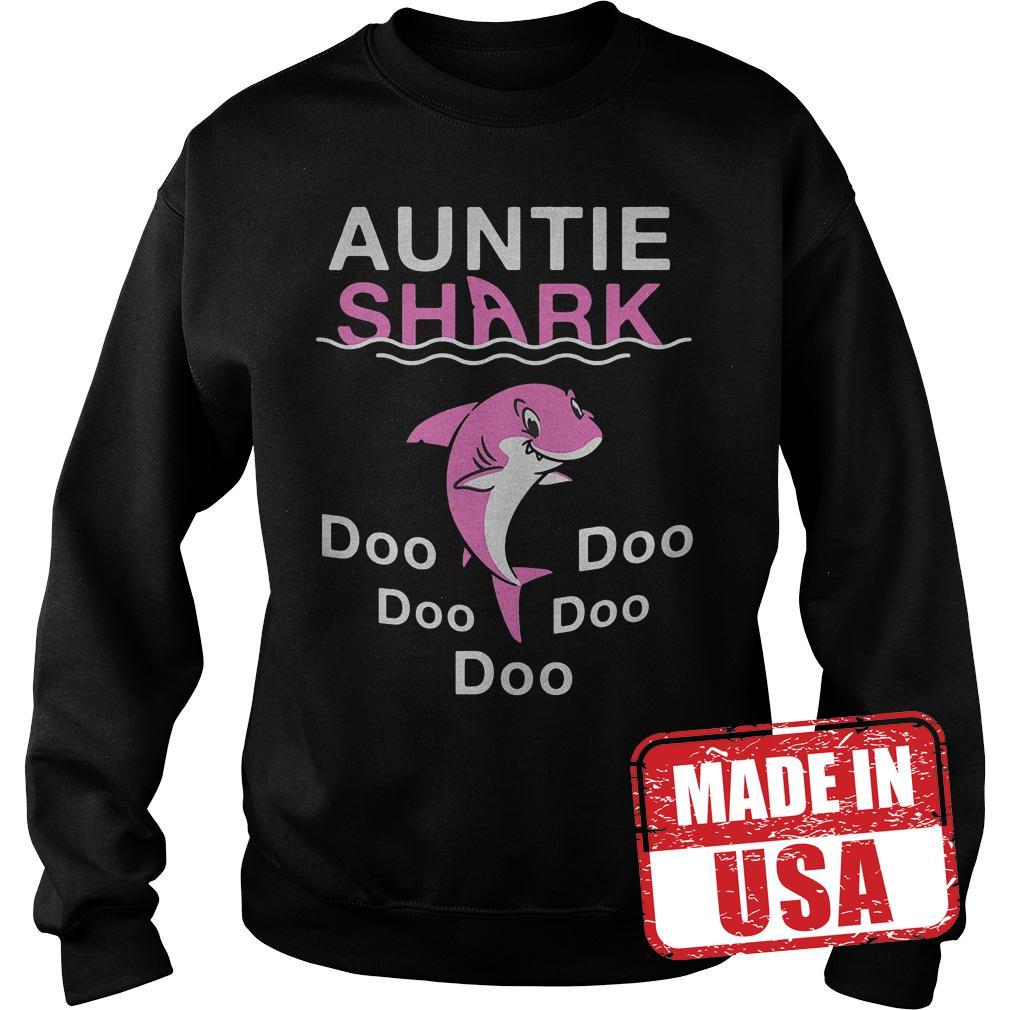 Best Price Pink Shark Auntie Shark shirt Sweatshirt Unisex