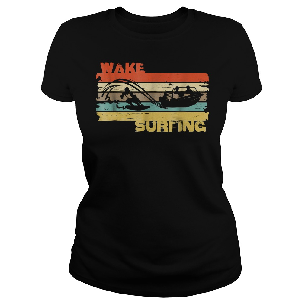 Best Price Wakesurfing Vintage T-Shirt Classic Ladies Tee