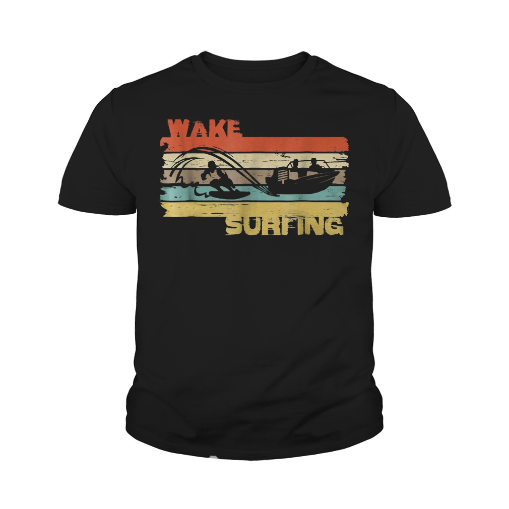 Best Price Wakesurfing Vintage T-Shirt Youth Tee