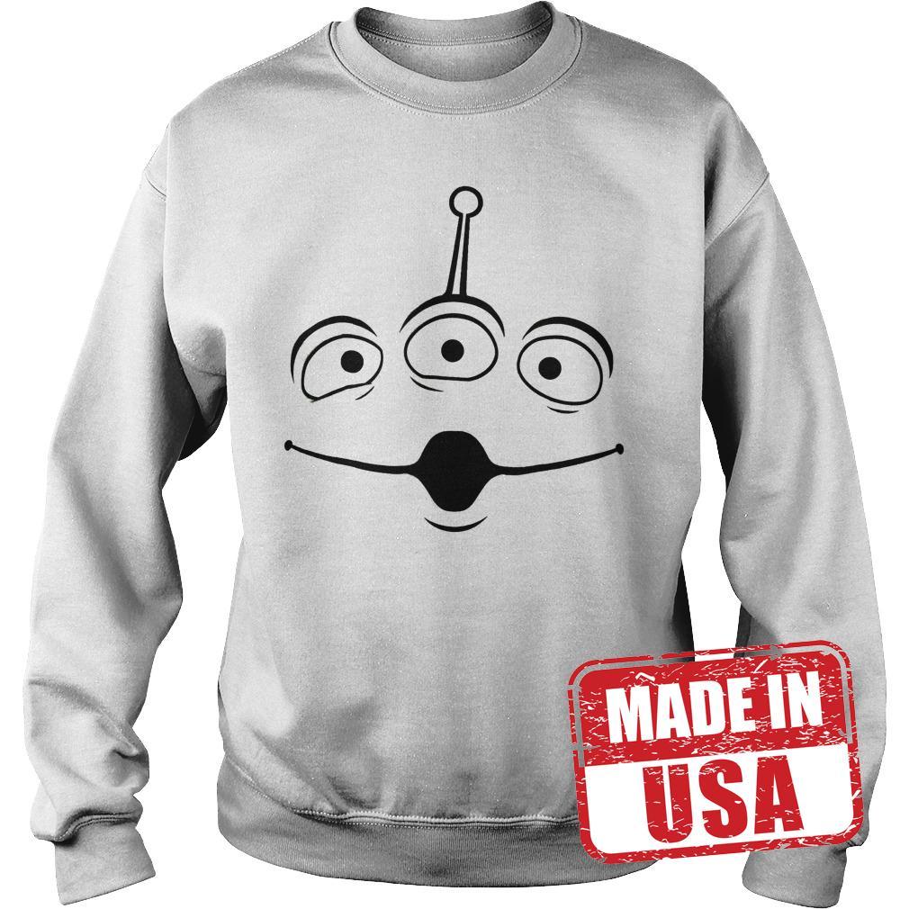 Official Disney Pixar Toy Story Alien Face shirt Sweatshirt Unisex