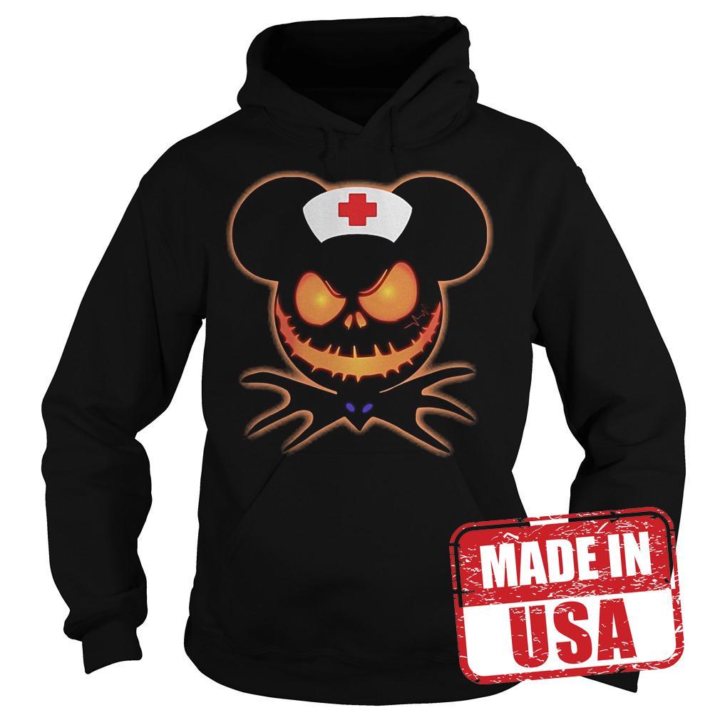 Official Mickey Nurse Pumpkin Jack Skellington shirt Hoodie