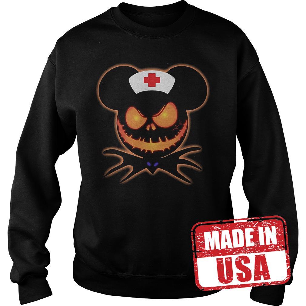 Official Mickey Nurse Pumpkin Jack Skellington shirt Sweatshirt Unisex