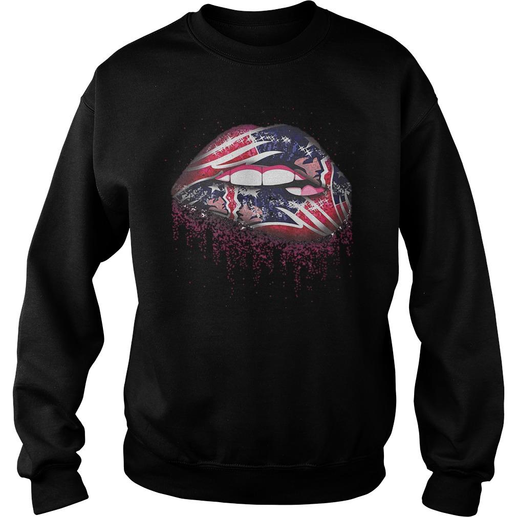 Official New England Patriots Sweat Lips shirt Sweatshirt Unisex
