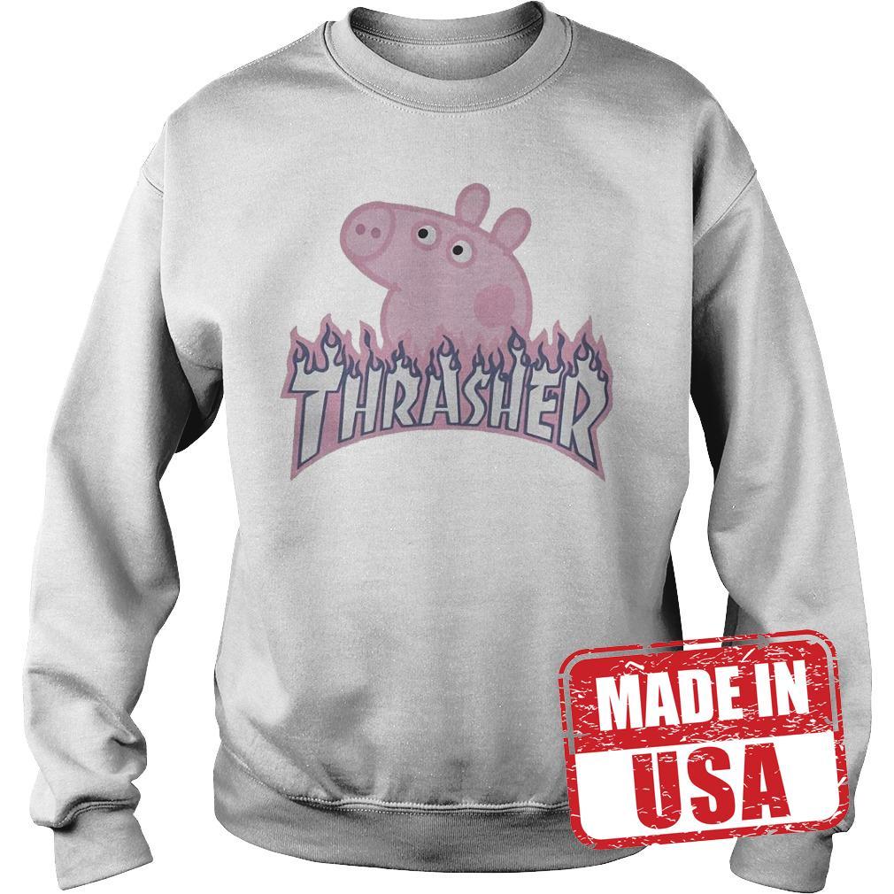 Official Thrasher Peppa Pig Shirt Sweatshirt Unisex