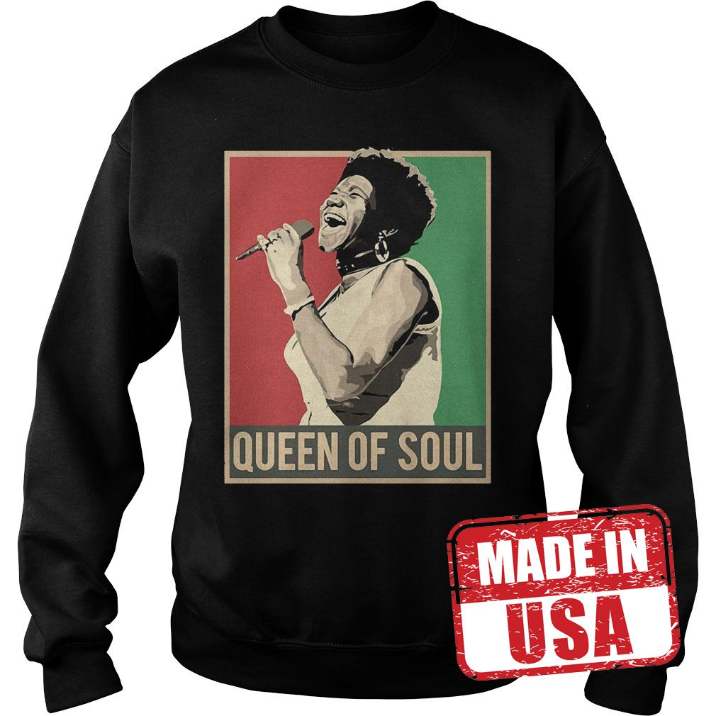Official Vintage Aretha We Love You Queen Of Soul Aretha Franklin Shirt Sweatshirt Unisex