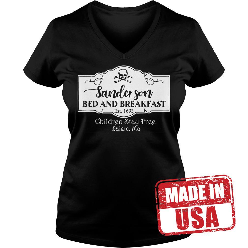 Premium Halloween Sanderson Bed And Breakfast shirt Ladies V-Neck