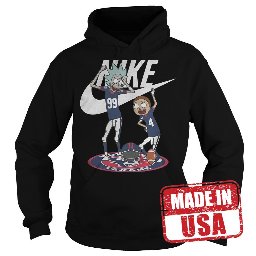 Premium Rick Morty Nike Broncos Texans shirt Hoodie