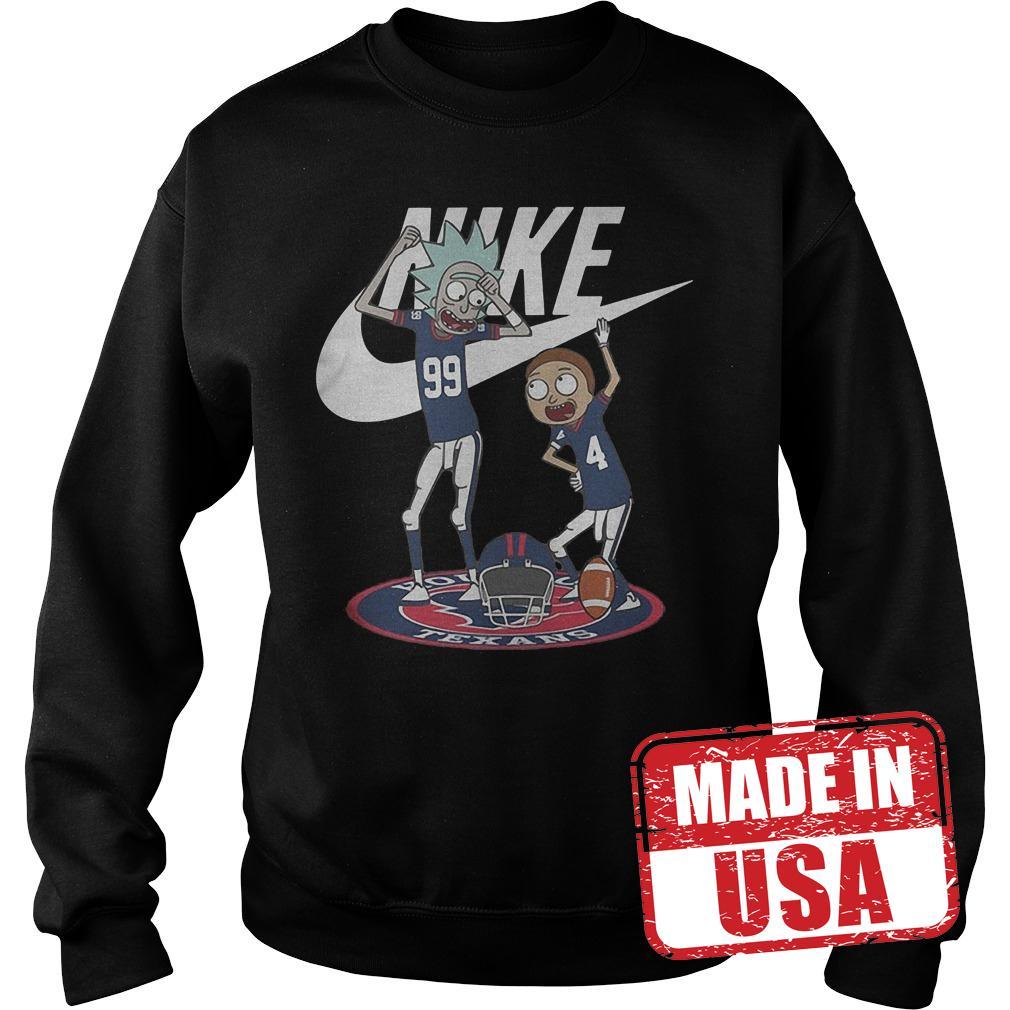 Premium Rick Morty Nike Broncos Texans shirt Sweatshirt Unisex