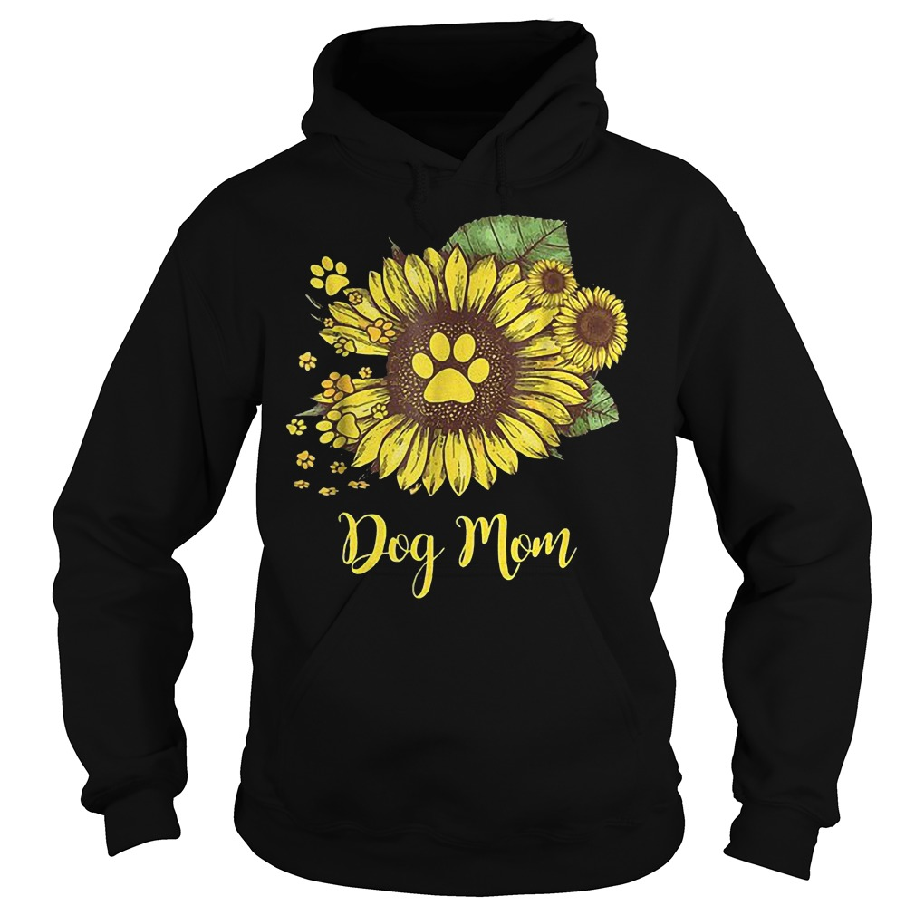 Dog mom sunflower shirt Hoodie
