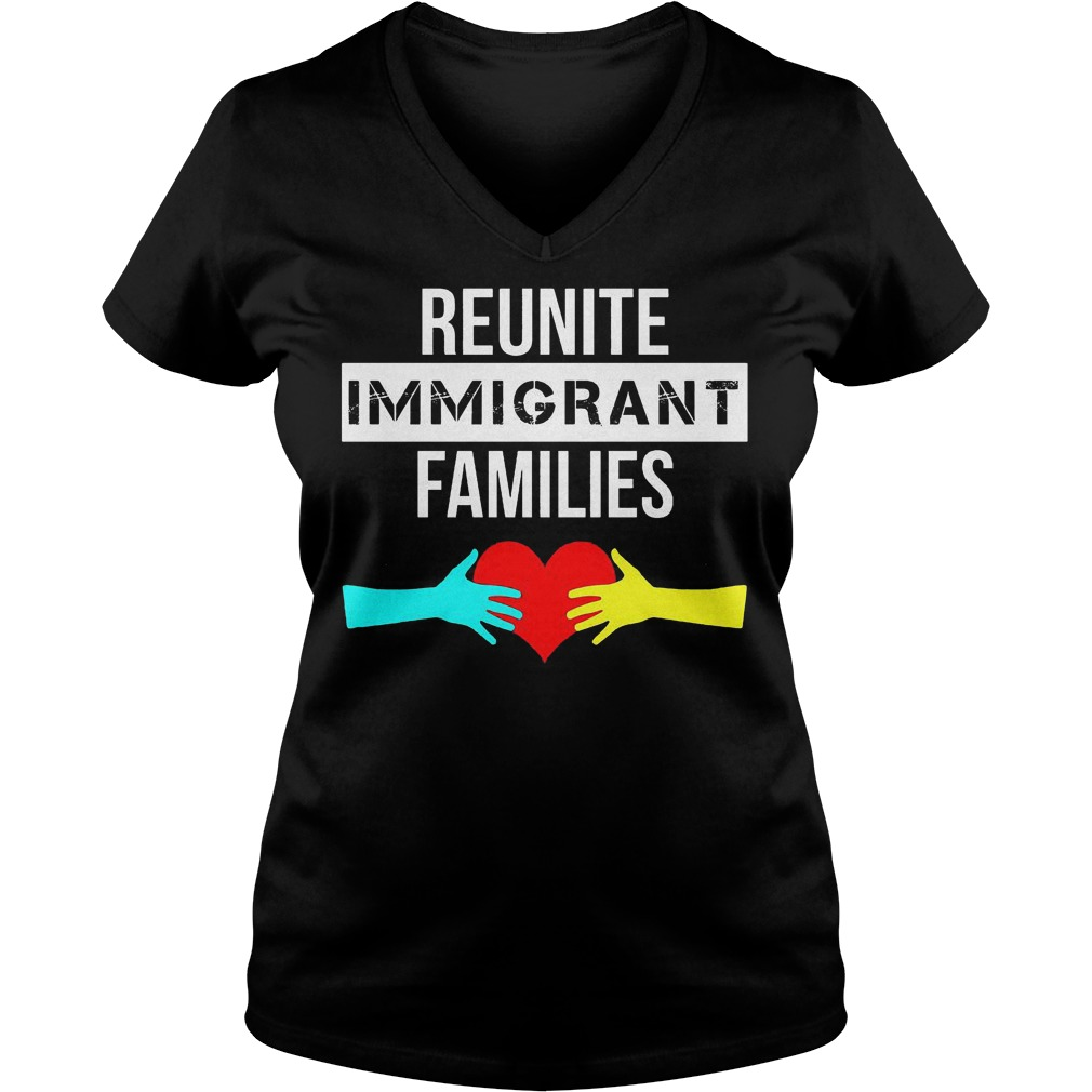 Hand to hand Reunite Immigrant Families Shirt Ladies V-Neck