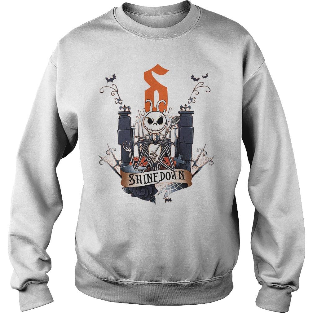 Jack Skellington Shine Down shirt Sweatshirt Unisex