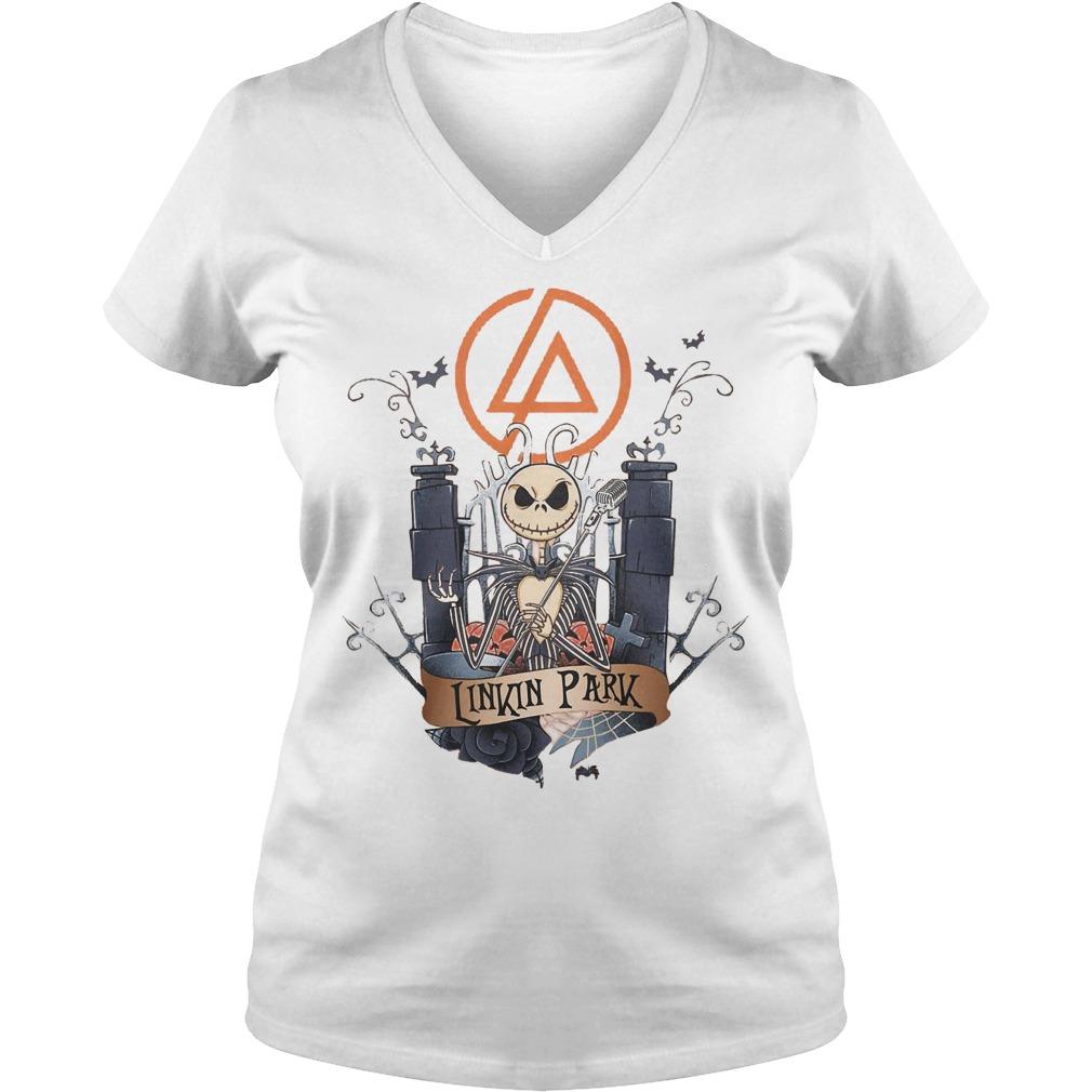 Jack skellington Linkin Park shirt Ladies V-Neck