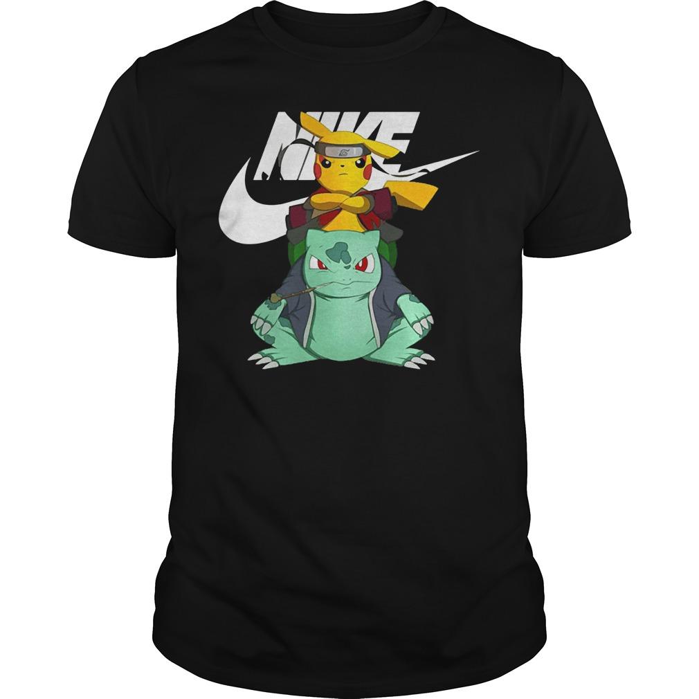 Nike Pikuto Naruto Pikachu Bulbasaur shirt