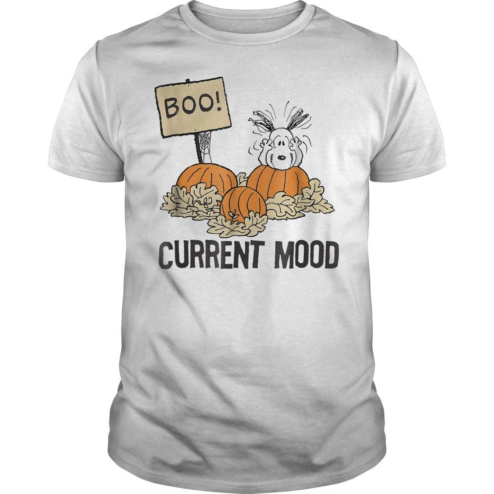 peanuts halloween snoopy current mood shirt, hoodie, sweater