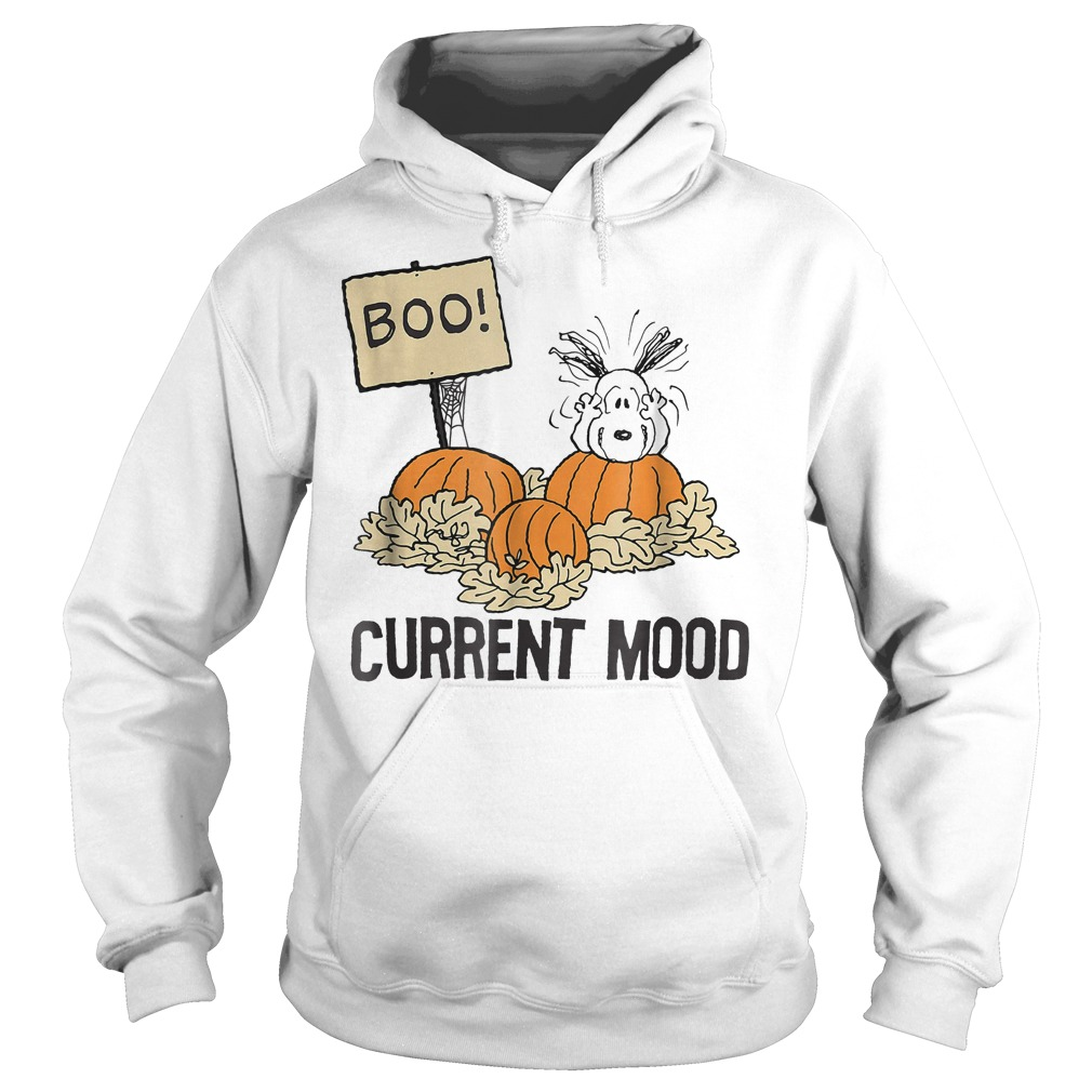 Peanuts Halloween Snoopy Current Mood Shirt Hoodie