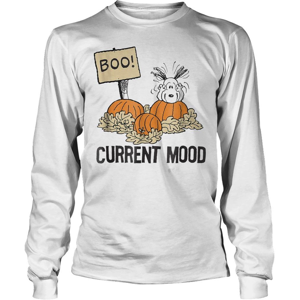 Peanuts Halloween Snoopy Current Mood Shirt Longsleeve Tee Unisex