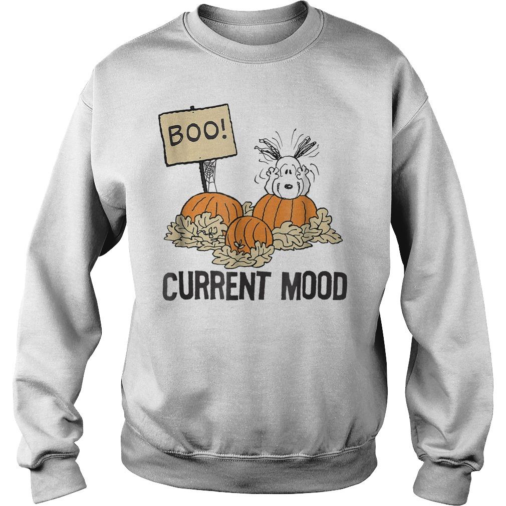 Peanuts Halloween Snoopy Current Mood Shirt Sweatshirt Unisex