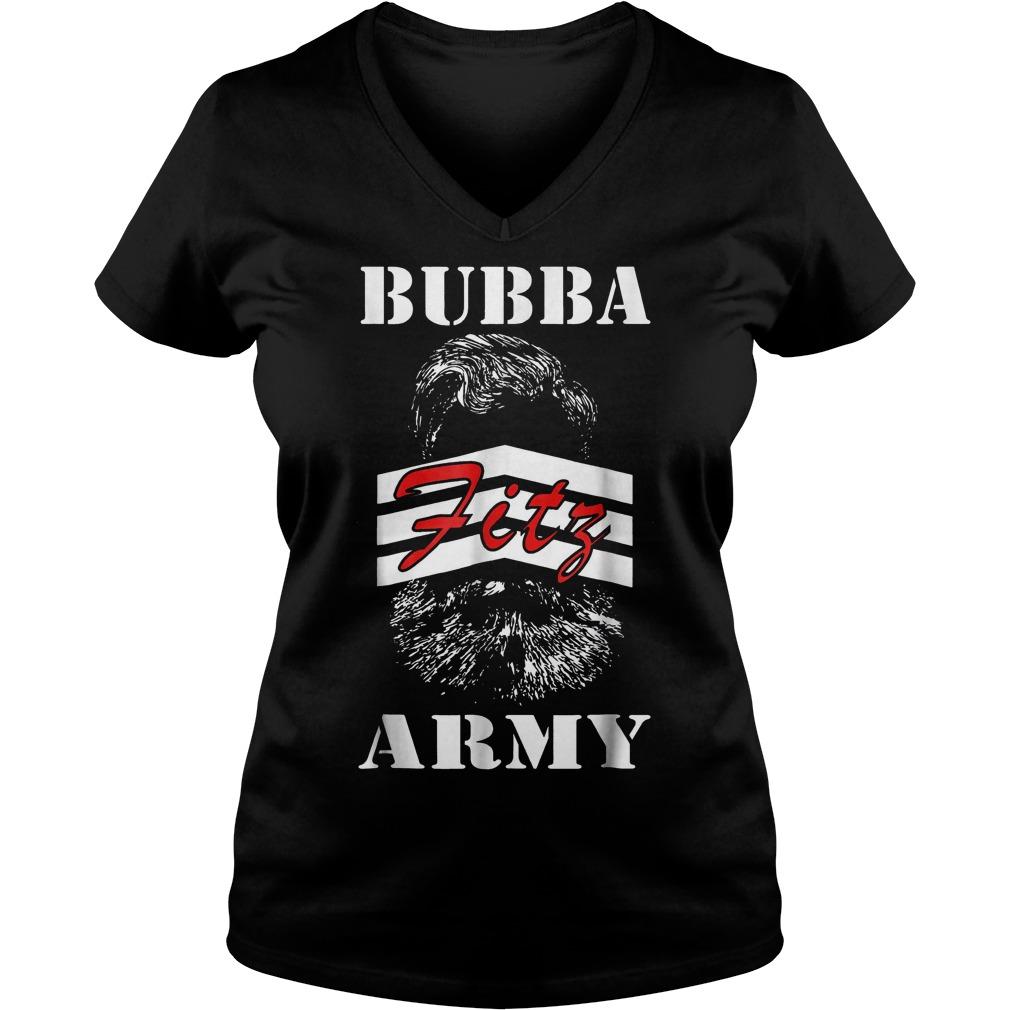 Bubba Army Fitz shirt Ladies V-Neck