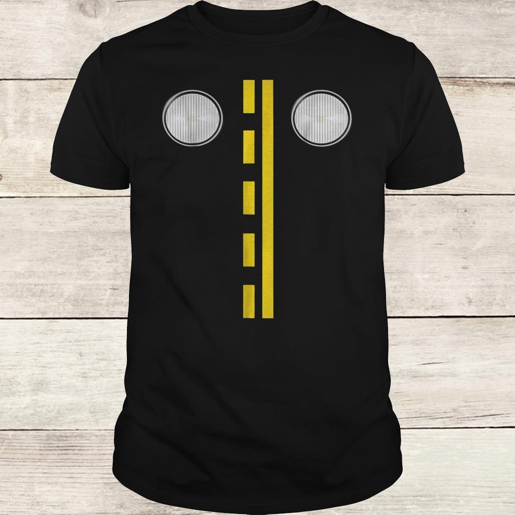 Headlights with road markings funny halloween costume Shirt