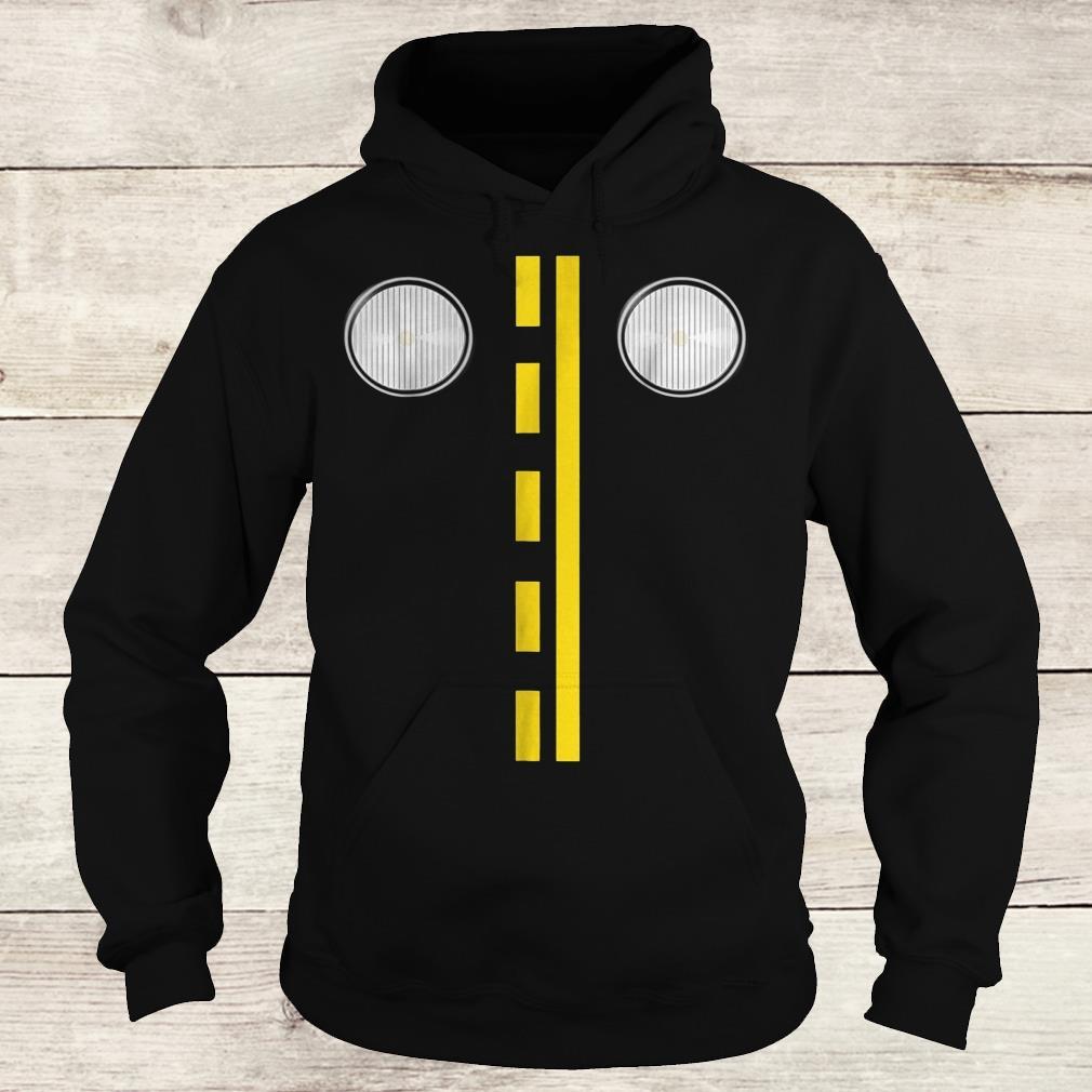 Headlights with road markings funny halloween costume Shirt Hoodie