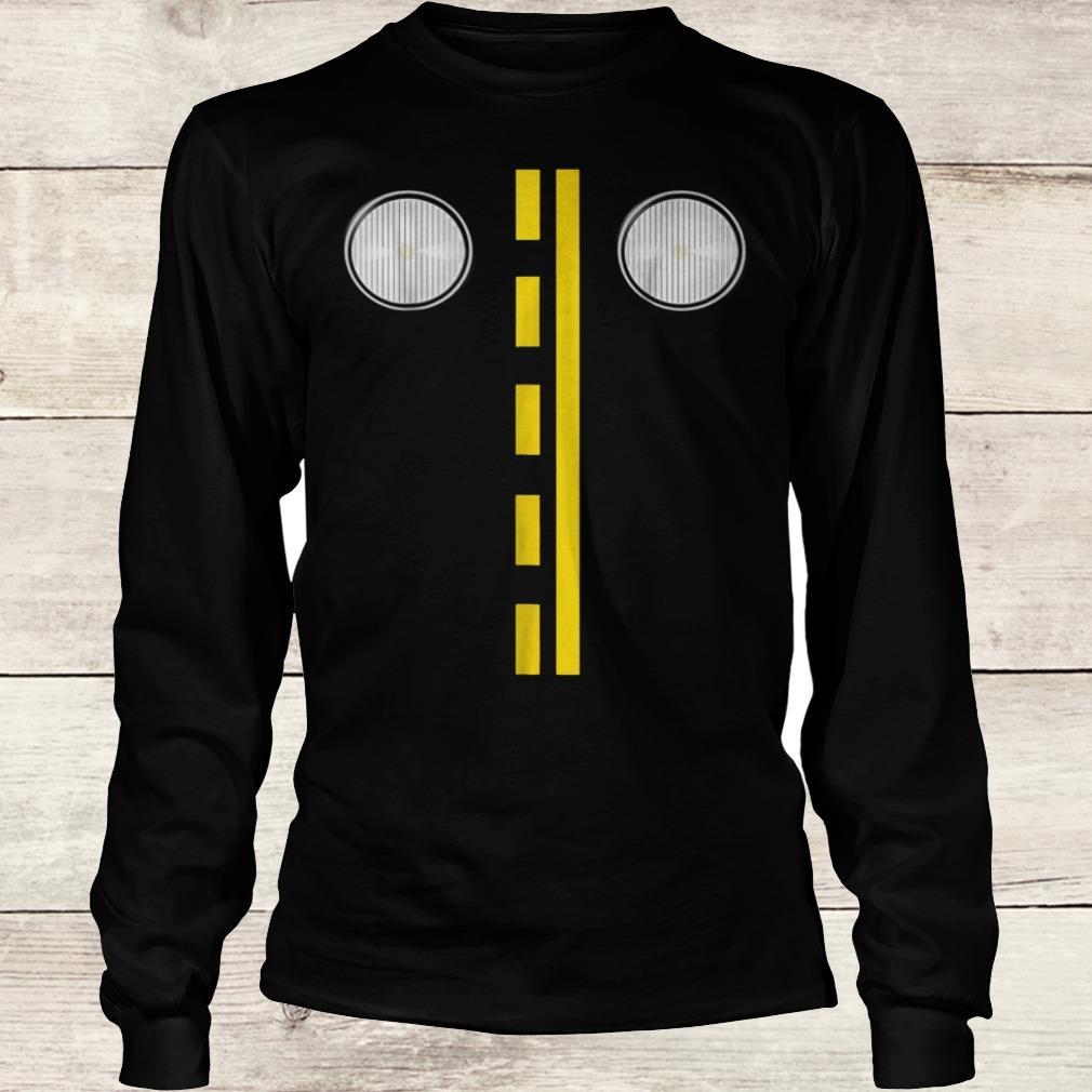 Headlights with road markings funny halloween costume Shirt Longsleeve Tee Unisex