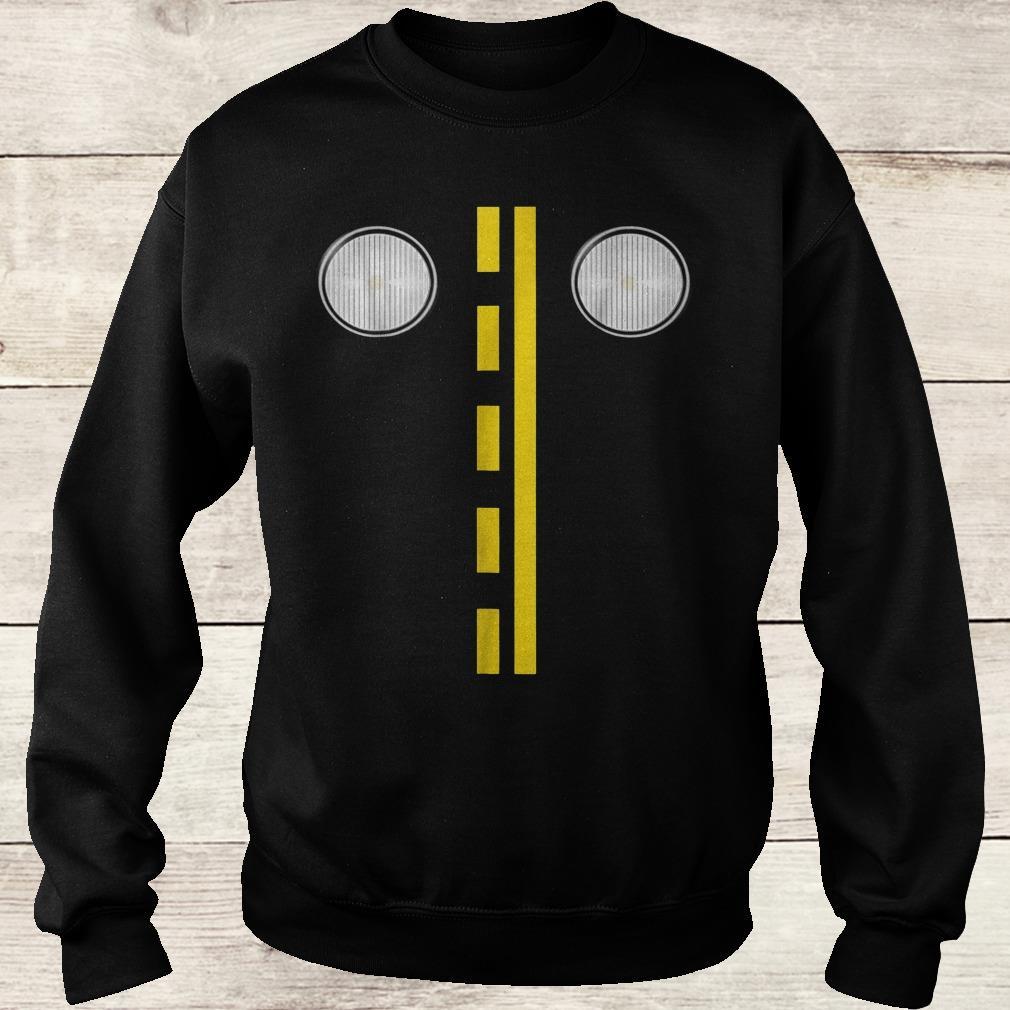Headlights with road markings funny halloween costume Shirt Sweatshirt Unisex