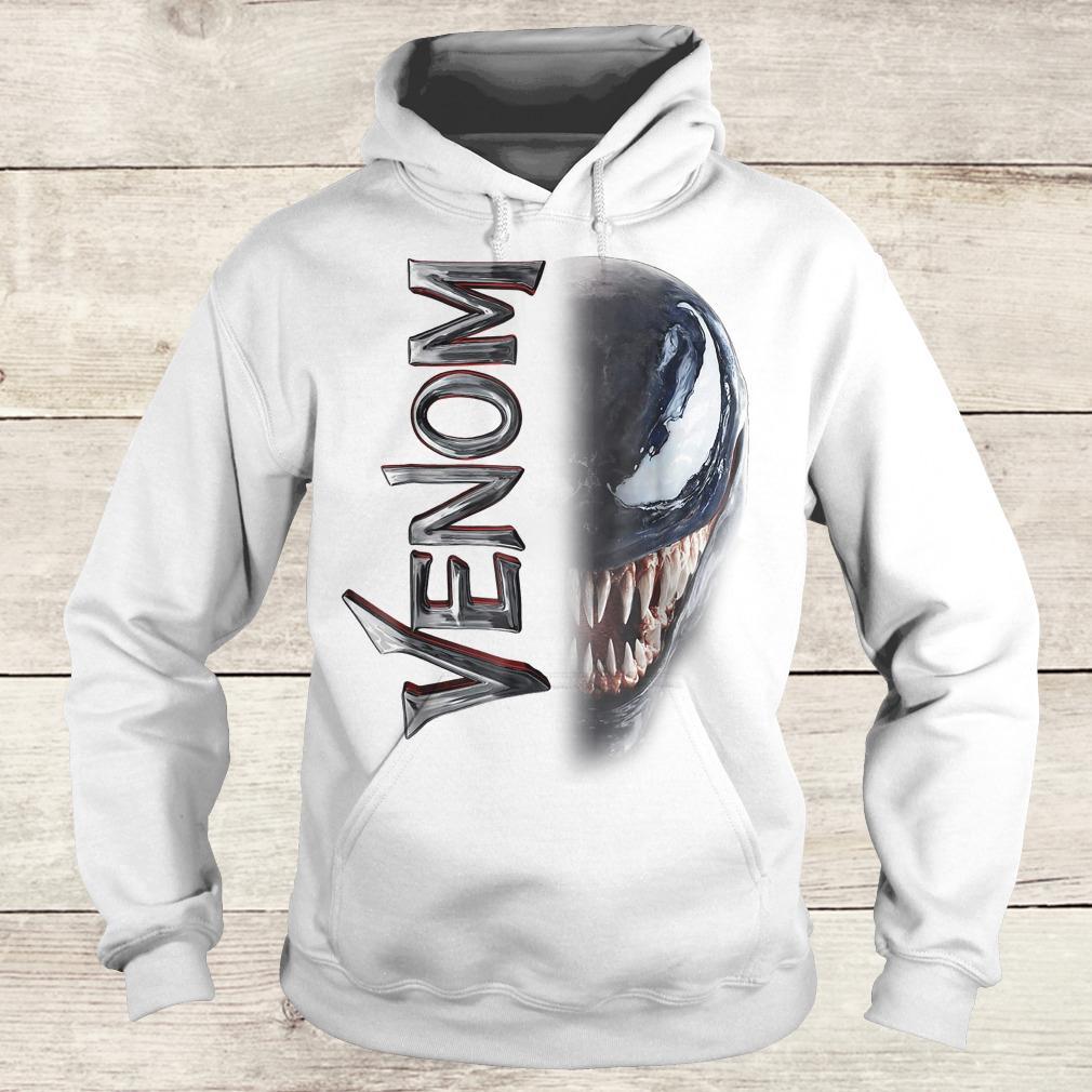 Marvel venom split down the middle Grin shirt Hoodie