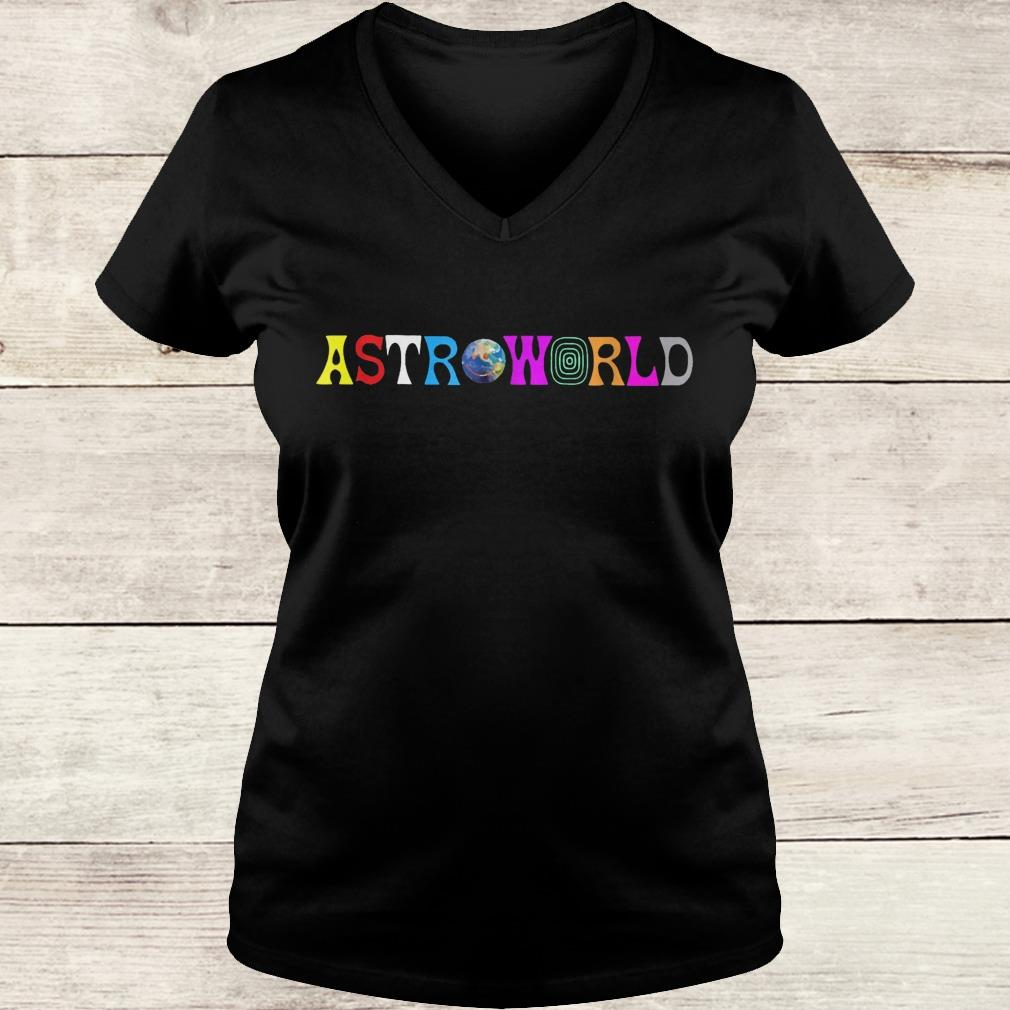 Official Astroworld shirt Ladies V-Neck