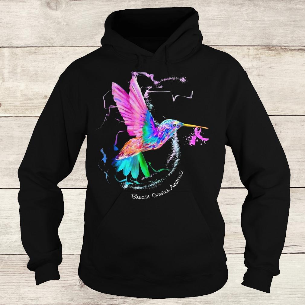 Official Hummingbird ribbon breast cancer awareness Shirt Hoodie