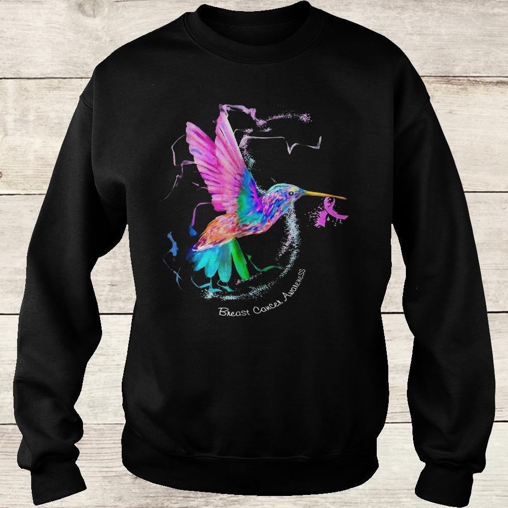 Official Hummingbird ribbon breast cancer awareness Shirt Sweatshirt Unisex
