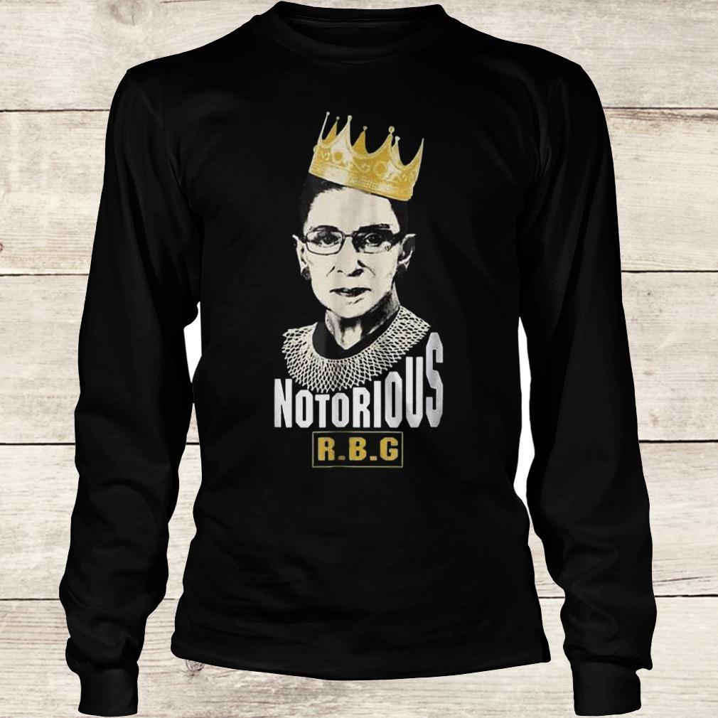 Original Notorious RBG Ruth Bader Ginsburg Shirt Longsleeve Tee Unisex