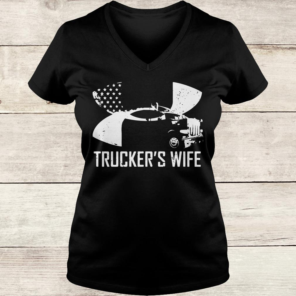 Original Under Armour Trucker's wife shirt Ladies V-Neck