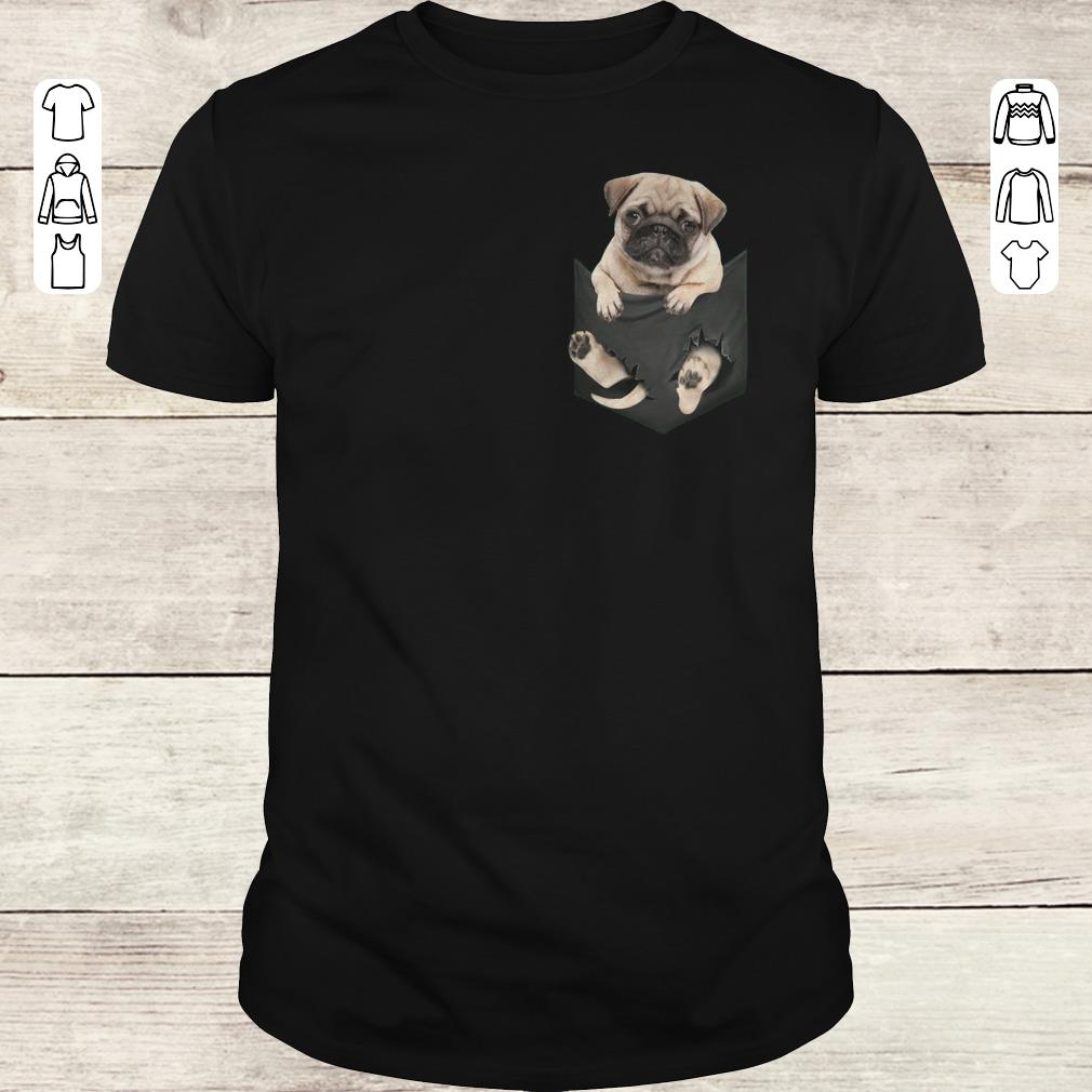 Awesome Pug dog In Pocket shirt, sweater Classic Guys / Unisex Tee
