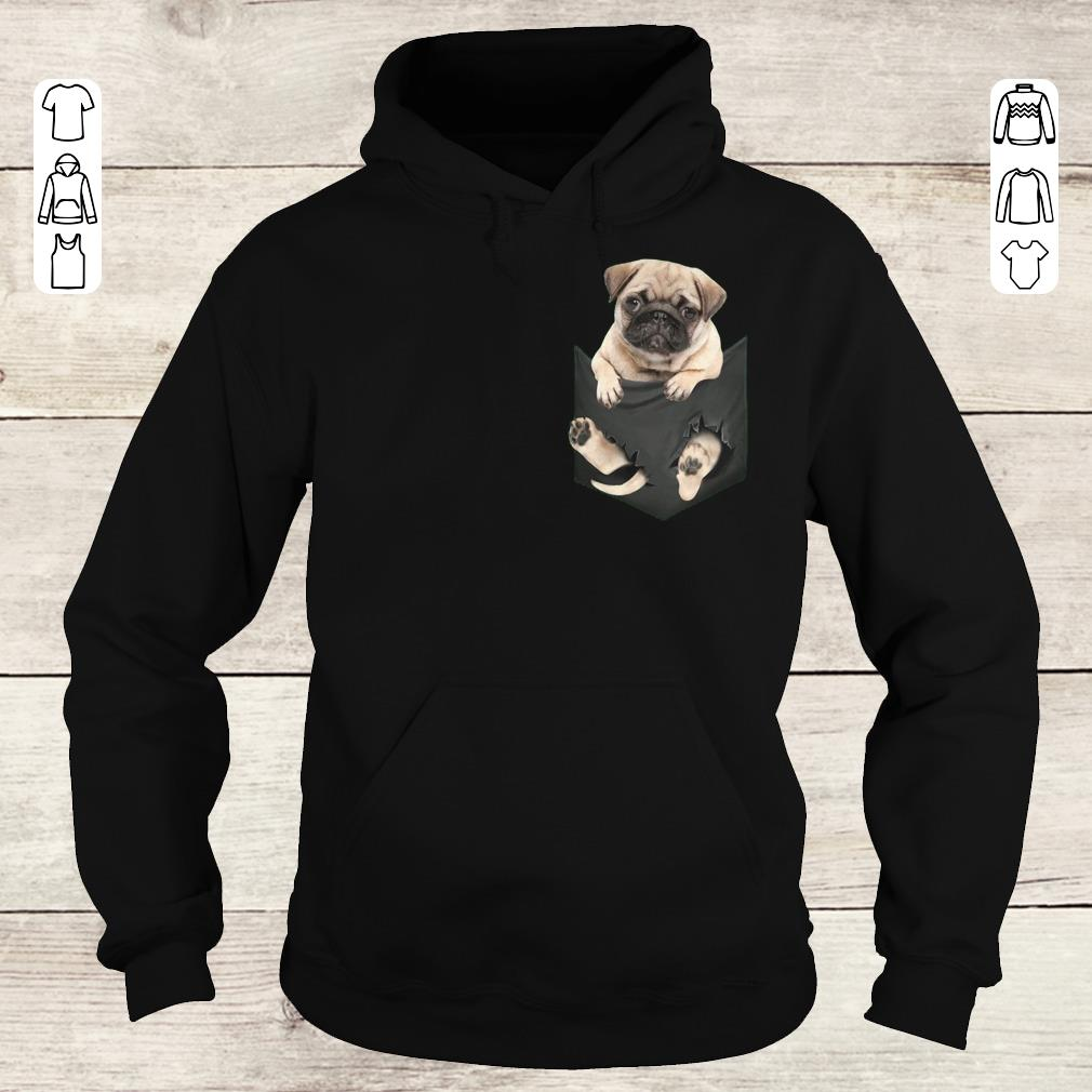 Awesome Pug dog In Pocket shirt, sweater Hoodie
