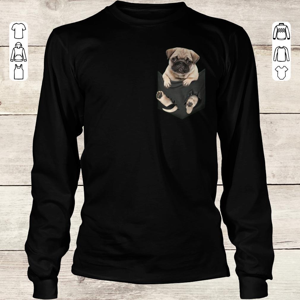 Awesome Pug dog In Pocket shirt, sweater Longsleeve Tee Unisex