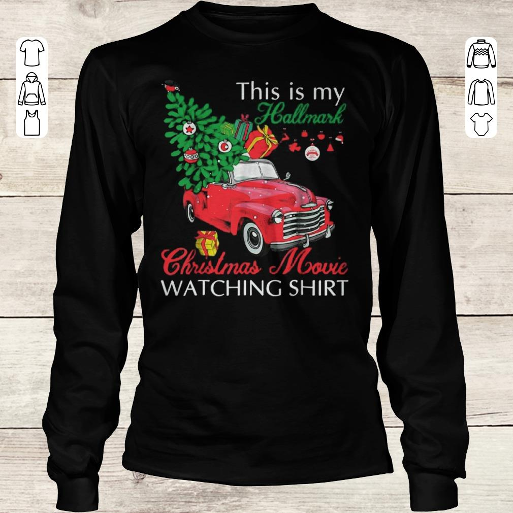 83d318a5 Awesome Red Truck This Is My Hallmark Christmas Movie Watching Shirt Shirt  Sweater Longsleeve Tee Unisex