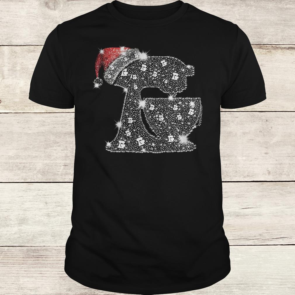 Awesome Snoopy Baking Glitter and rhinestones with santa hat shirt Classic Guys / Unisex Tee